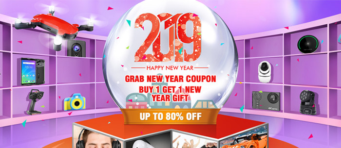 Grab New Year Coupon,Buy 1 Get 1 New Year Gift Event are in Progress - Tomtop.com