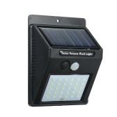 Lampada a LED con sensore di movimento PIR a energia solare da 30 LED