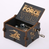 Caja de música con canciones temáticas STAR WARS de madera vintage