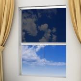 Blanco mosquitera retráctil para ventana de 120 x 170 cm