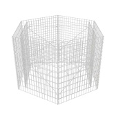 Planter with hexagon gabion 160 x 139 x 100 cm