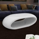 secundarios mesa de centro de fibra de vidrio de mesa brillante diseño hueco blanco