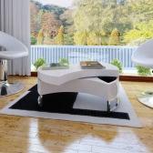 Mesa baja de la Forma-ajustable Blanco Brillante