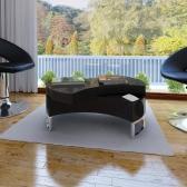 Mesa baja de la Forma-ajustable Negro Brillante
