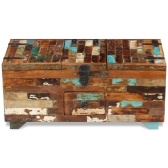 Chest coffee table solid wood recovery 80 x 40 x 35 cm