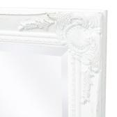 Miroir mural Style baroque 100 x 50 cm Blanc