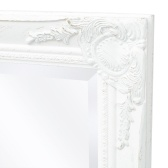 Wall mirror Baroque style 100 x 50 cm White