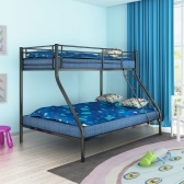 Bunk Bed for Children 200x140 / 200x90 cm Metal Black