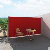 Terrasse Seitenmarkise Sichtschutz Markise 180 x 300 cm rot