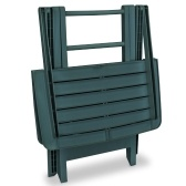 Garden Bistro Set 3 Pieces Plastic Green