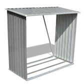 Log Storage Shed Galvanised Steel Grey