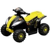 Mini moto-quatro eléctricos para crianças, amarelo e preto