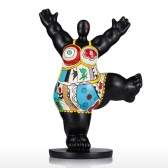 Palestra Fat Woman Tooarts vetroresina Scultura exaggerative Modeling Decorativee Ornament