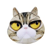 Femmes Cute Cat pièce sac à main Mini portefeuille imprimé Animal à capuche peluche pièce affaire sac