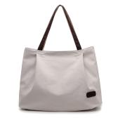 女性キャンバスハンドバッグ大容量トートバッグソリッドカラーメッセンジャークロスボディショルダーバッグ