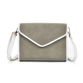 Bolsa de ombro vintage feminina Faux Nubuck Leather V Shape Flap Envelope Elegant Crossbody Messenger Bag
