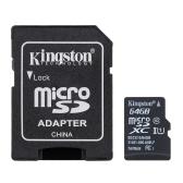 حقيقي الأصلي كينغستون الدرجة 10 8 جيجابايت 16 جيجابايت 32 جيجابايت 64 جيجابايت مايكرو تف بطاقة الذاكرة فلاش 48 ميجابايت / ثانية السرعة القصوى مع بطاقة محول