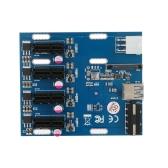 Комплект расширения PCI-E 1X от 1 до 4 слотов. Адаптер платы мультиплексора концентратора с USB 3.0 кабелем. Модули Pcie Mining