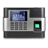 バイオメトリック指紋パスワード出席マシン従業員のチェックインレコーダーTCP / IP 2.8インチの液晶画面DC 5Vタイムレコーダーの時計