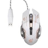 Souris FPS professionnelle avec souris filaire Gaming Free Wolf avec 4000DPI Silent Click RGB Light