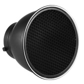"7"" Standard Reflector Diffuser Lamp Shade Dish with 60° Honeycomb Grid for Bowens Mount Studio Strobe Flash Light Speedlite"