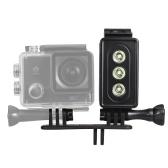 Câmera de Ação LED Mergulho Luz Subaquática Lâmpada 300LM 3 Modos de Iluminação 30 m À Prova D 'Água com Bateria Recarregável para GoPro Hero 7/6/5s / 5 / 4s / 4/3 + / 3 para SJCAM Xiaomi Yi Sports Câmeras