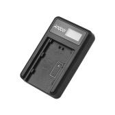 Andoer Câmera USB Carregador de Bateria para Sony NP-FZ100 Bateria A7III A7RIII A7SIII A9 Câmera