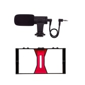 PULUZ Kit de captura de cámara para teléfonos inteligentes Videograbadora portátil Video + Video Microp para filmación al aire libre Transmisión en vivo