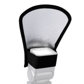 Riflettore pieghevole flash riflettore Snoot Softbox Speedlight argento / bianco per DSLR Reflect Light Panel Bender
