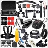 49-en-1 Kit de accesorios para GoPro Hero5 Black Hero5 Session Hero 4 Paquete de accesorios para sesión Hero en GoPro Hero3 + 3 2 1 SJ4000 Cam Xiaomi Skiing Cycle Hiking Outdoor Sport Accessories