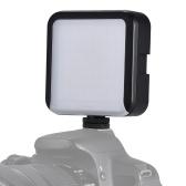 LED 64 contínua na câmera levou luz do painel mini filmadora portátil de iluminação de vídeo para canon nikon sony a7 dslr