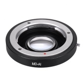 MD-AI Lens Mount Adapter Ring with Corrective Lens for Minolta MD MC Mount Lens to Fit for Nikon AI F Mount Camera for D3200 D5200 D7000 D7200 D800 D700 D300 D90 Focus Infinity