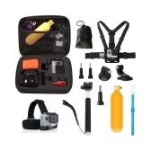 Kit de accesorios de correas 10 in1 para GoPro Hero 5 4 sesión 3+ 3 cámara de acción YI