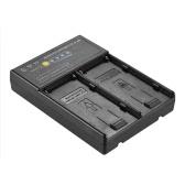 Андоер NP-F для V-образного адаптера для адаптера аккумулятора с двойным слотом для NP-F550 NP-F750 серии NP-F970