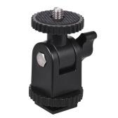 1/4インチスレッドカメラ用ミニコールドシューマウントビデオカメラスマートフォンGopro LEDビデオライトマイクビデオモニターリングフラッシュライトブラック