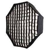 "120 cm/48""ポータブル折りたたみ八角形傘のソフト ボックス ディフューザー反射板写真フォト スタジオのハニカム グリッド フラッシュ ストロボ ストロボ ライト"