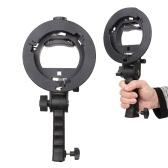 S soporte en forma de mano agarre portátil Bowens montar Flash linterna Softbox soporte paraguas reflectantes y otros accesorios de estudio de fotografía