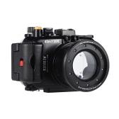MEIKON SY-16 40 m / 130 pies bajo el agua de la cámara a prueba de agua caja de la cámara a prueba de agua Vivienda Negro para Sony RX100 IV