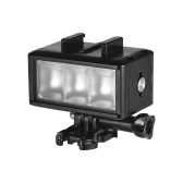 Impermeable LED Luz Video Regulable Lámpara Submarino 40M Buceo con 900mAh Batería Recargable para Gopro 7 Hero Yi SJ4000 / SJ5000 / Xiaomi 5 / 5S / 4 / 4S / 3 + / 3/2 / SJCAM Cámara Acción