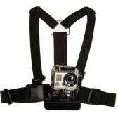 Gopro HDヒーローカメラボディハーネスベルトチェストストラップアクセサリーのための調整可能な実用的アクションプロスポーツマウントアウトドアスポーツエラスティックショルダー