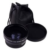 فائقة الجودة HD 52mm / 58mm 0.45x عدسة زاوية واسعة + عدسة ماكرو لكاميرا DSLR