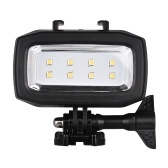 Ação Câmera de Mergulho LED Fill-in Lâmpada de Luz 600LM 3 Modos de Iluminação 30m À Prova D 'Água com 2 pcs Baterias Recarregáveis para GoPro Hero 7/6/5 s / 5/4 s / 4/3 + / 3 para SJCAM Xiaomi Yi Câmeras Esportivas