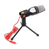 Condensador profesional de audio de audio con cable micrófono estéreo