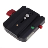 Andoer Rapid Connect Adapter Clamp com QR Plate 501PL para Manfrotto Tripod Head 701HDV