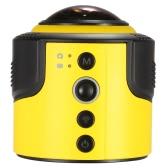 Detu 360 degrés panoramique caméra Wifi 1080p 30 FPS 8MP Fisheye Film Source pour lunettes virtuelle VR Action Sports activités de plein air voiture caméra caméscope DVR