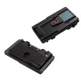 Золотая гора V Гора батареи адаптер пластина преобразователь с D-выстучайте порт для Panasonic батарея для камеры Sony S-GP-A