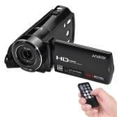 من جهة ثانية Andoer HDV-V7 1080P كامل HD كاميرا فيديو رقمية كاميرا كحد أقصى. 24 ميجا بيكسلز 16 × تقريب رقمي مع شاشة دعم شاشة LCD قابلة للتدوير مقاس 3.0 بوصة