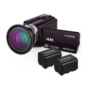 Andoer HDV-534K 4K 48K واي فاي كاميرا فيديو رقمية