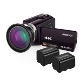 Andoer HDV-534K 4K 48MP WiFiデジタルビデオカメラ