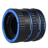 Andoer красочных металлических TTL Auto AF макро расширения трубы кольцо фокусировки для Canon EOS EF EF-S 60 d 7 D 5 D II 550 D синий